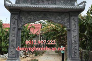 Cổng làng đep có mái bằng đá khối tại Vĩnh Phúc VP01, Cổng đá Vĩnh Phúc , Cổng làng bằng đá tại VĨnh Phúc