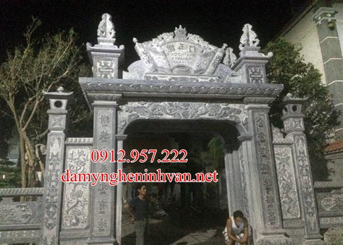 Cổng làng xây bằng đá khối tại Vĩnh Phúc VP06, Cổng làng bằng đá khối