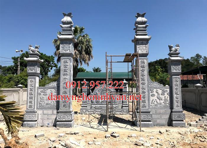 Cổng nhà thờ họ bằng đá đẹp Tại Bắc Ninh BN06, Cổng đá Bắc Ninh