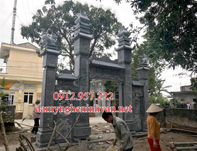 Những mẫu Cổng làng đẹp bằng đá hiện đại 05