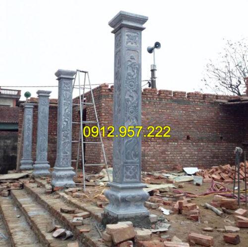 Báo giá cột đá nhà thờ họ chi tiết tại Đá mỹ nghệ Thái Vinh