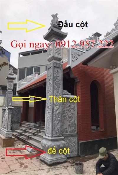 Cấu tạo của cột đồng trụ đá nhà thờ họ