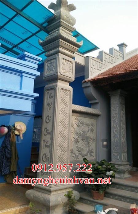 Mẫu cột đồng trụ nhà thờ họ từ đường bằng đá đẹp nhất hiện nay