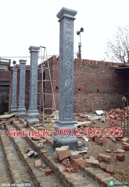 cột hiên nhà thờ họ bằng đá CDH05, Cột hiên nhà thờ họ, CỘt hiên từ đường