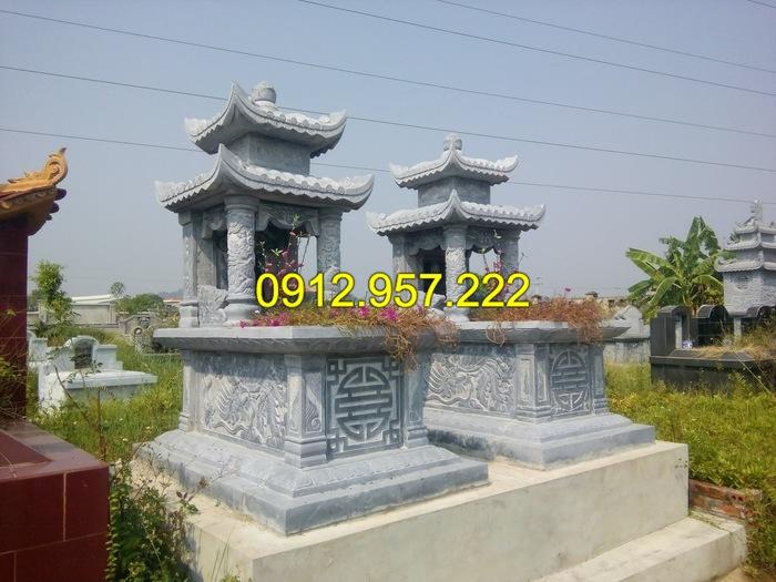 Mẫu mộ đá đôi đẹp được chế tác tại Đá mỹ nghệ Ninh Vân
