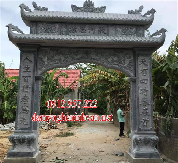 Cổng làng bằng đá khối tại Quảng Ninh QN04, Cổng làng đẹp Quảng Ninh 13, Cổng đá Quảng Ninh