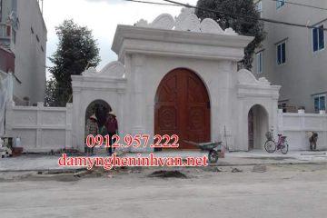 Cổng nhà riêng biệt thự bằng đá trắng tại Hải Phòng -HP03, Cổng đá tại Hải phòng, Cổng Biệt thự tại Hải Phòng