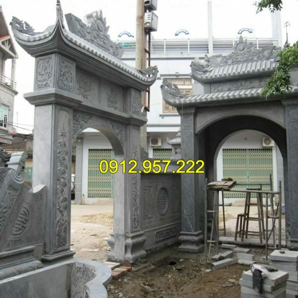 Làm cổng nhà thờ họ bằng đá tại hà nội