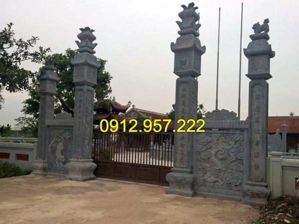 Mẫu cổng nhà thờ họ bằng đá đẹp tại Hà Nội