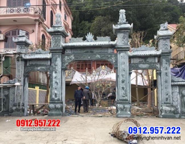 Cổng đá Vĩnh Phúc - Mẫu cổng chùa, cổng đình, cổng làng bằng đá đẹp tại Vĩnh Phúc