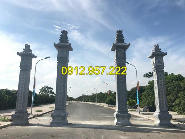 Mẫu cột cổng bằng đá cho nhà thờ họ, đền chùa đẹp nhất