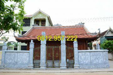 Top 15 mẫu cột cổng đá đẹp cho nhà thờ họ, đình chùa