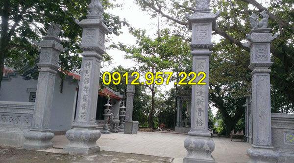Mẫu cột cổng bằng đá xanh tự nhiên
