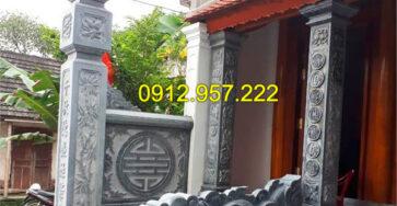 Mẫu cột đền bằng đá xanh tự nhiên