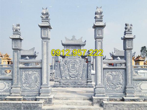 Mẫu cột cổng lăng mộ bằng đá xanh tự nhiên