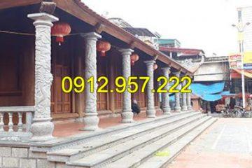 Top 10 mẫu cột đá chạm rồng đẹp cho đình chùa, nhà thờ họ