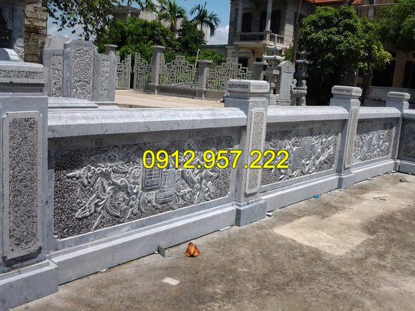 Cột đá cho lan can đá xanh tự nhiên nguyên khối