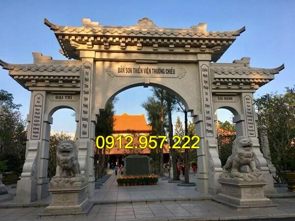 Mẫu cổng đền bằng đá tự nhiên đẹp nhất của Đá mỹ nghệ Ninh Vân