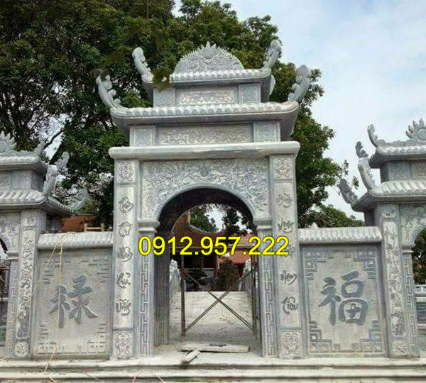 Mẫu cổng đền bằng đá xanh tự nhiên đẹp nhất