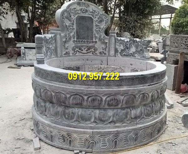 Hình ảnh mộ đá tròn thường được sử dụng trong cải táng mộ tổ