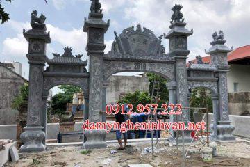 Mẫu cổng đền đẹp bằng đá xanh khối tại Hải Dương HD02, Cổng đền bằng đá Hải dương, Cổng đình đẹp bằng đá tại Hải Dương
