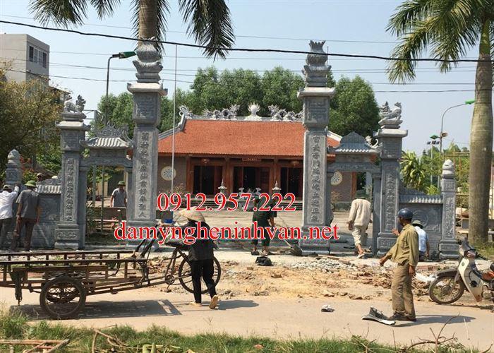 Mẫu cổng đình cổng đền băng đá đẹp tại Bắc Ninh - BN04, cổng đá tại Bắc Ninh