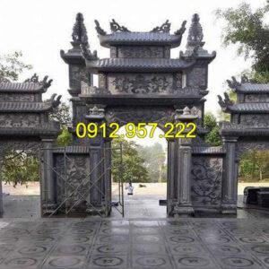 Cổng đền đẹp bằng đá - Mẫu cổng đền chùa đẹp bằng đá tự nhiên