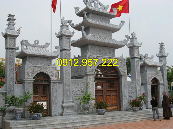 Mẫu cổng đình chùa bằng đá đẹp
