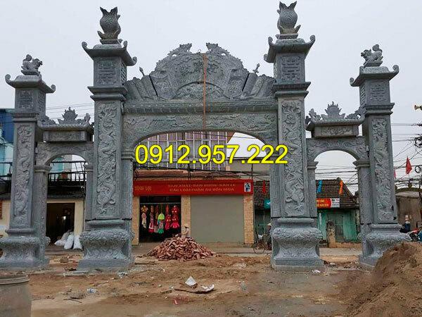 Mẫu cổng đền,đình chùa bằng đá đẹp