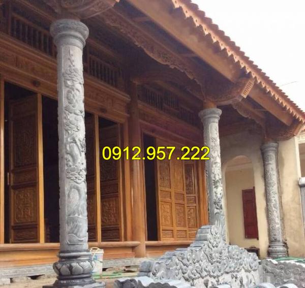 Mẫu cột đá tròn đẹp của Đá mỹ nghệ Thái Vinh