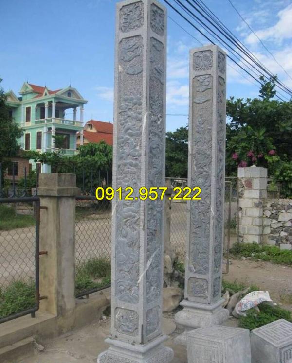 Mẫu cột đá vuông đẹp của Đá mỹ nghệ Thái Vinh