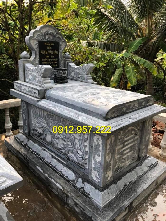 Mẫu mộ đơn giản mà đẹp tại đá mỹ nghệ Ninh Vân