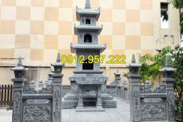 Mẫu tháp mộ Phật giáo bằng đá đẹp tại cơ sở đá mỹ nghệ Ninh Vân