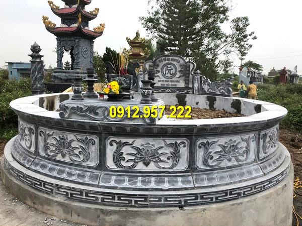 Lăng mộ đá tròn kích thước lớn tại Đá mỹ nghệ Thái Vinh