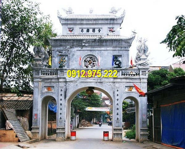 Địa chỉ thi công lắp đặt cổng đình chùa đá tại Đà Nẵng