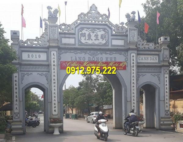 Mẫu cổng tam quan đình chùa miếu