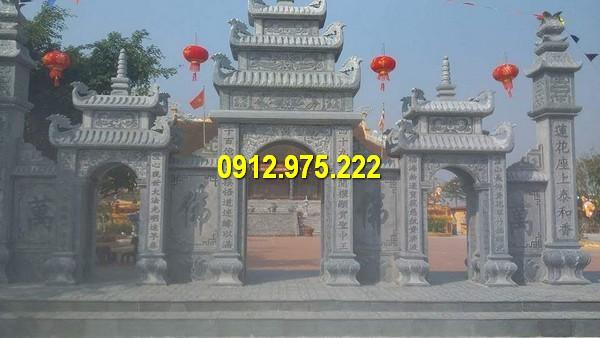 Cổng đá tại các kiến trúc đình, chùa, miếu thờ