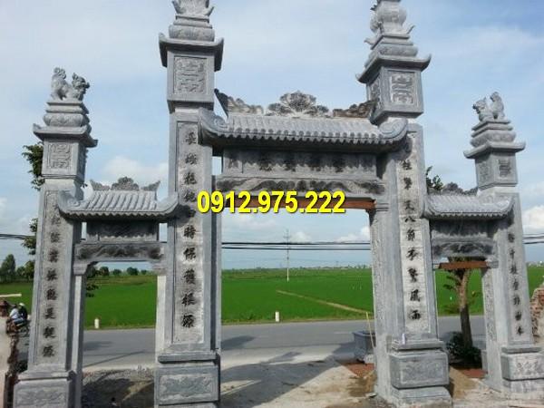 Thi công lắp đặt cổng chùa bằng đá tại Quảng Ngãi