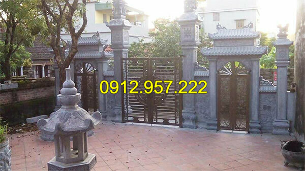 Thi công lắp đặt cổng nhà thờ họ bằng đá tại Bắc Giang