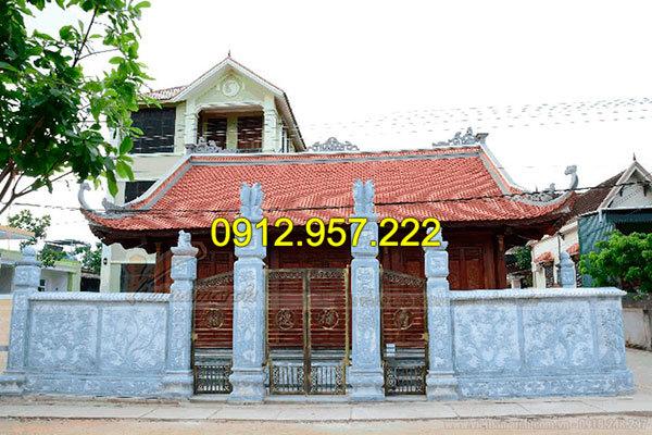 Mẫu cổng nhà thờ họ bằng đá, một trong những công trình Đá mỹ nghệ Thái Vinh đã thi công