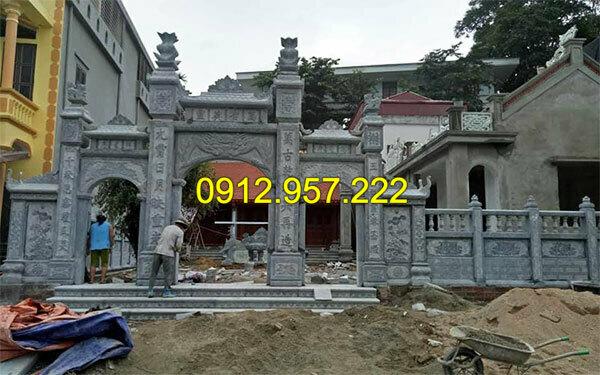 Thi công lắp đặt cổng nhà thờ họ bằng đá tại Thái Nguyên