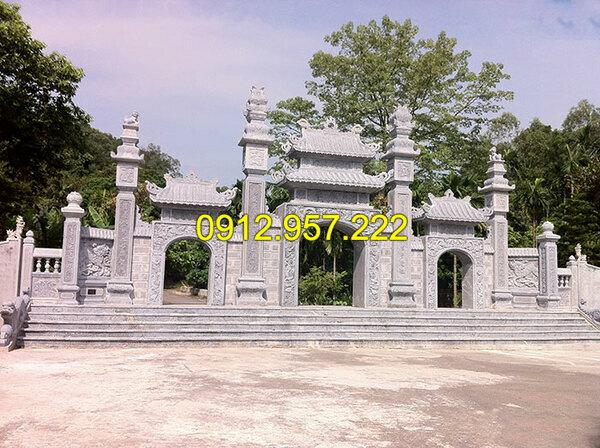 Thi công lắp đặt cổng nhà thờ họ bằng đá tại Cao Bằng, Bắc Kạn, Lào Cai