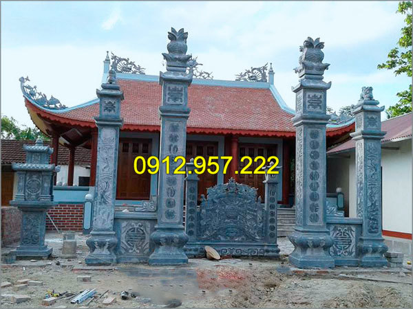 Đá mỹ nghệ Thái Vinh chuyên thi công lắp đặt cổng nhà thờ họ bằng đá