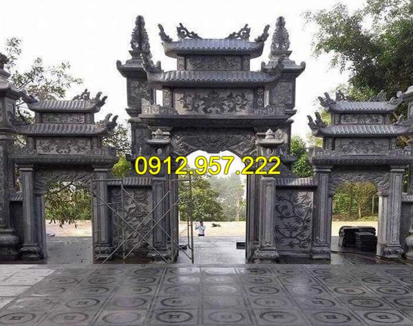 Thi công lắp đặt cổng chùa bằng đá tại Vĩnh Long