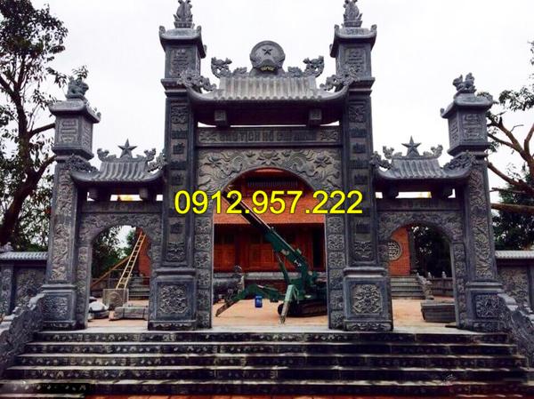 thi công lắp đặt cổng chùa bằng đá tại Bà Rịa-Vũng Tàu, tphcm