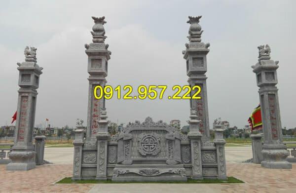 Mẫu Trụ biểu bằng đá đẹp, được chế tác, lắp đặt bởi đá mỹ nghệ Ninh Vân