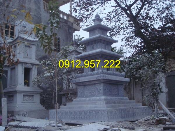 Mẫu mộ tháp bằng đá đẹp