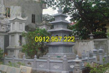 Hướng dẫn xây mộ tháp - Mẫu mộ tháp Phật giáo đơn giản mà đẹp