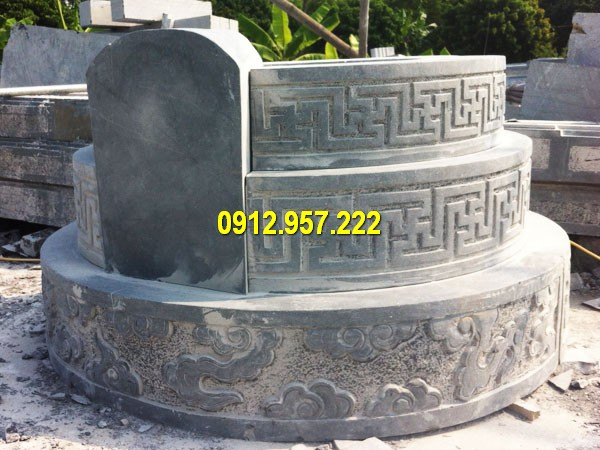 Mẫu mộ tròn tam cấp chuẩn phong thuỷ