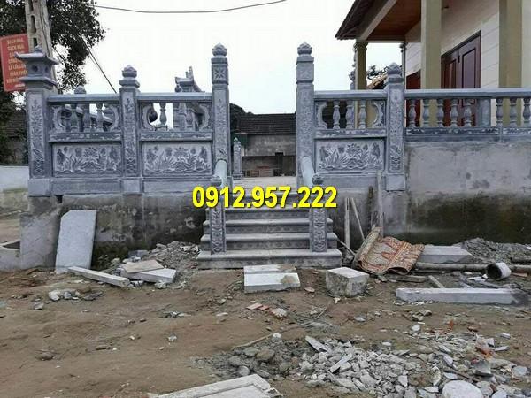 Lan can cầu thang được làm từ đá tự nhiên chất lượng cao